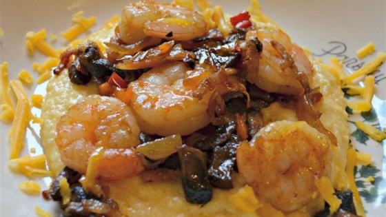 Photo of Shrimp and Cheesy Grits with Bacon by Diane