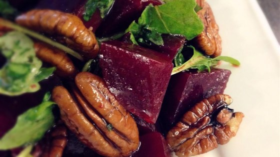 Photo of Roasted Beet, Arugula, and Walnut Salad by Adelma Lilliston