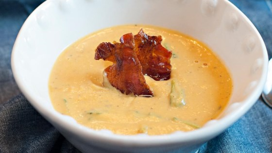 Photo of Goat Cheese and Butternut Soup with Maple Candied Bacon by Campbell's Kitchen