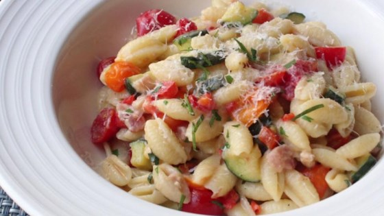 "Photo of Summer Vegetable Cavatelli with Fresh Corn ""Cream"" by Chef John"