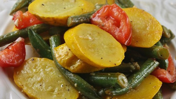 Photo of Squash and Green Bean Saute Side Dish by CathWithKids