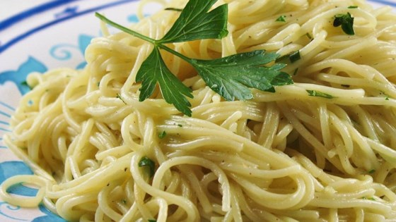 Photo of Garlic-Herb Linguine by Andrea Fahlor