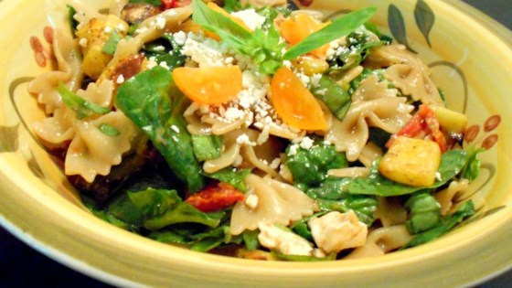 Photo of Greek Pasta Salad with Roasted Vegetables and Feta by cypress