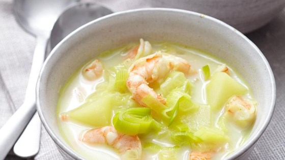 Photo of Leek and Potato Soup with Shrimp by Diana71