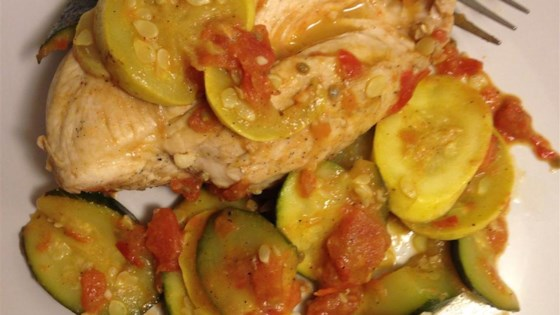 Photo of Chicken and Summer Squash by KMSMOKEY