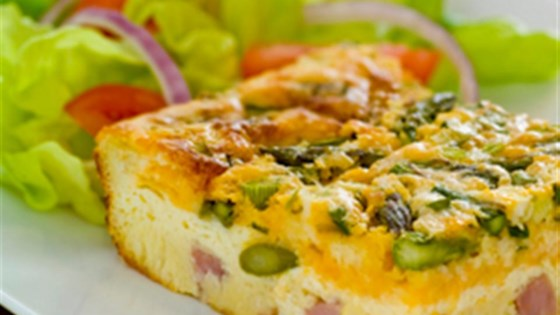 Impossibly Easy Ham and Asparagus Pie