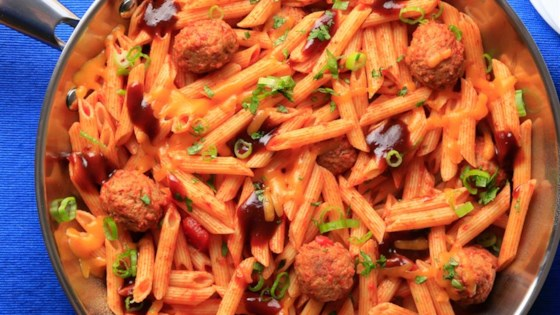 Photo of Simple Smokey Penne and Meatballs by Barilla