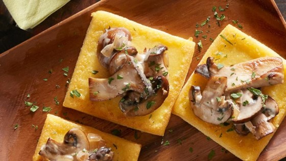 Photo of Fried Polenta Squares with Creamy Mushroom Ragu by Reynolds Kitchens®