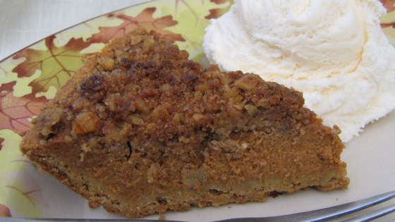 Photo of Pumpkin Pie with Walnut Streusel Topping by Jackie