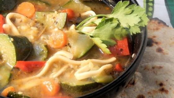Photo of Herbal Kluski Zucchini Soup by Lois Mountz