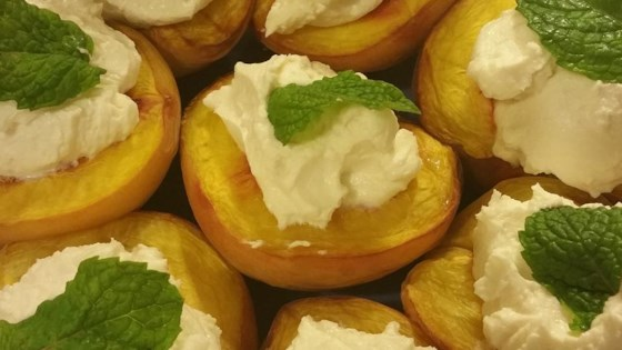Succulent Grilled Peaches with Honey Chevre
