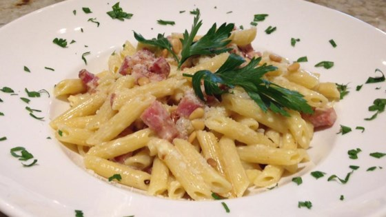 Photo of Classic Carbonara with Pancetta by KMOMMYZ
