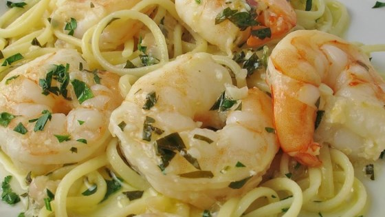 Photo of Shrimp Scampi with Pasta by JustJen