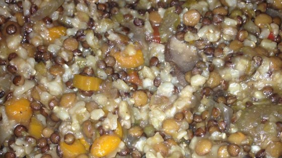 Photo of Slow Cooker Lentil Rice Soup by Renee