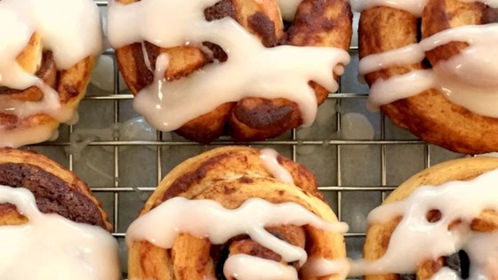 Photo of Bacon-Stuffed Cinnamon Roll Bites by foodelicious