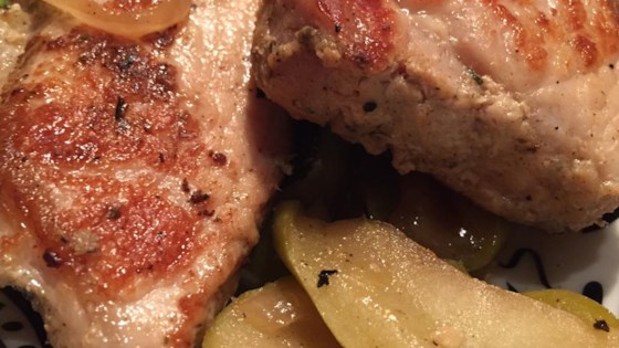 Photo of Garlic Herb Pork Medallions with Apples by Smithfield®