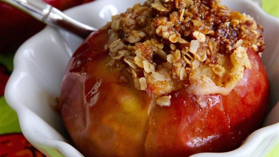Baked Apples with Oatmeal Filling Recipe