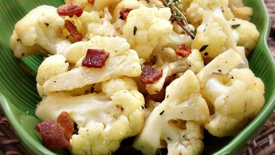 Bacon Cauliflower Sauté