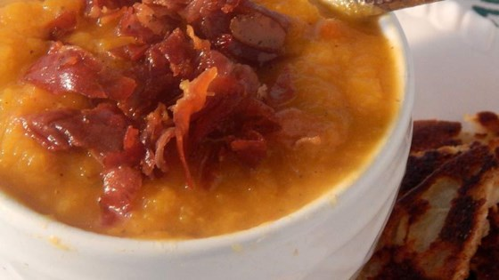 Photo of Butternut Squash Soup with Crispy Prosciutto by Campbell's Kitchen