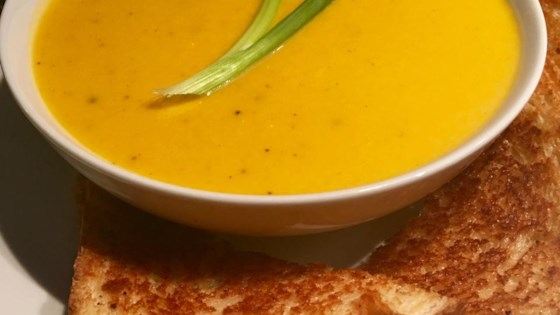Delicata Creamy Squash Soup Recipe Allrecipes Com