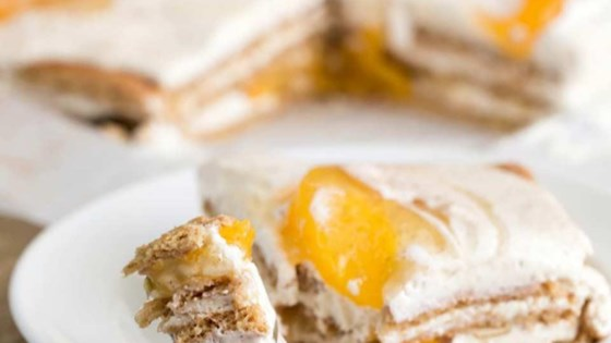 Photo of Peach Icebox Cake by Lucky Leaf Fruit Filling