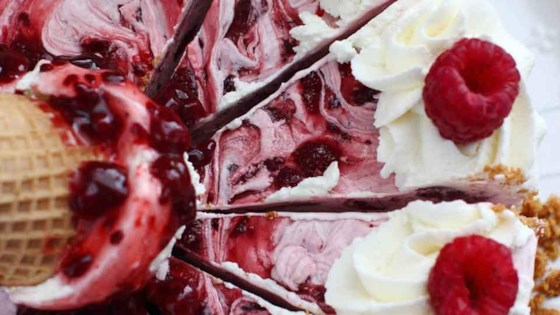 Photo of Raspberry Ice Cream Pie with Ice Cream Cone Crust by Lucky Leaf Fruit Filling