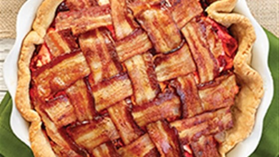 Bacon Topped Holiday Apple Pie
