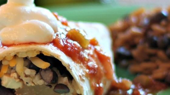 Photo of Vegetarian Jamaican Jerk Burrito by Cayce Lynne