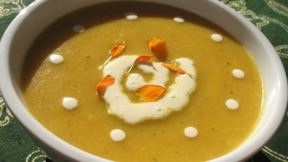 Photo of Carrot Soup with Potatoes and Cream by Jennifer