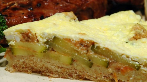 Photo of Bread Crust Zucchini Quiche by Kellie