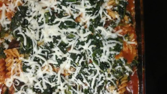 Photo of Layered Spinach Mostaccioli by Jo