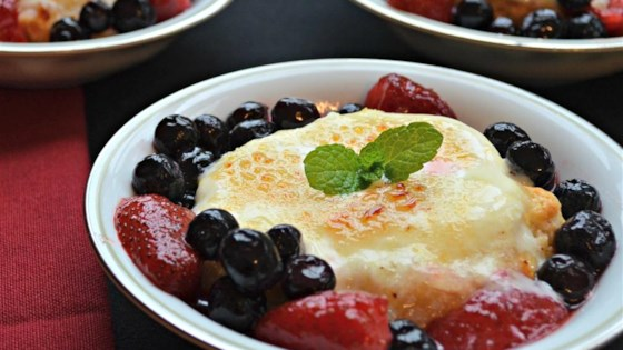 Photo of Mascarpone Brulee with Fresh Berries by Chef John