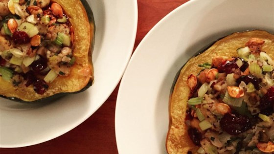 Photo of Wild Rice Stuffed Acorn Squash  by sherry