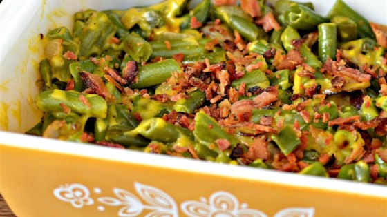 Photo of Cheesy Green Beans with Bacon by CRFTYREE