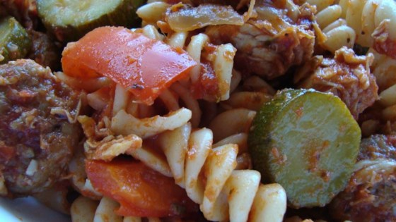 Photo of Chicken, Sausage and Zucchini Pasta by Mary