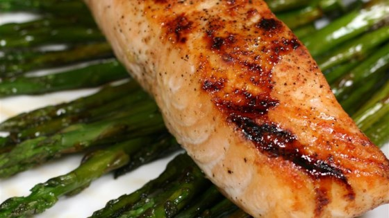 Photo of Soy-Honey Glazed Salmon with Asparagus by Casie Price