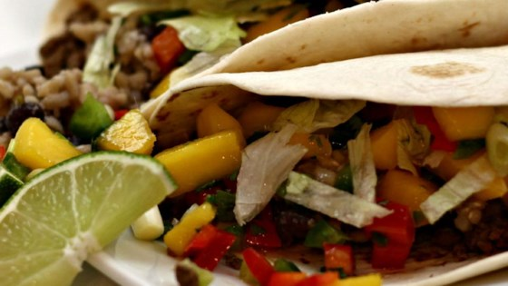 Beef Soft Tacos with Mango Salsa
