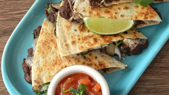 Photo of Mushroom and Black Bean Quesadillas by Stefanie