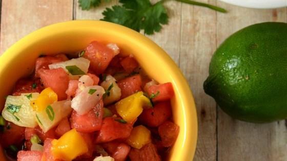 Watermelon-Cilantro Salsa Tropical