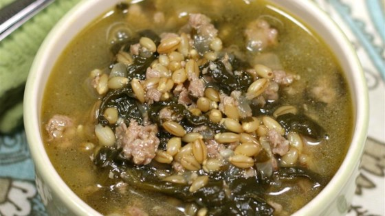 Turkey Sausage Barley Soup