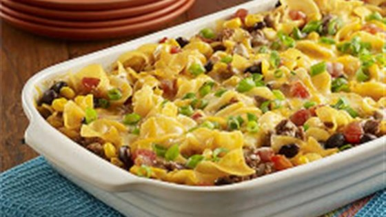 Photo of Beef Taco Noodle Bake by RO*TEL
