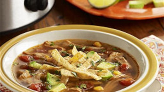 Photo of Slow Cooker Chicken Tortilla Soup from RO*TEL by RO*TEL
