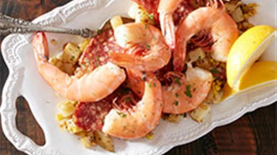Photo of Shell on Shrimp with Corn, Potatoes and Chorizo by Reynolds Kitchens®