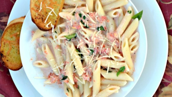 Photo of Quick Tomato Basil Cream Sauce by April K.