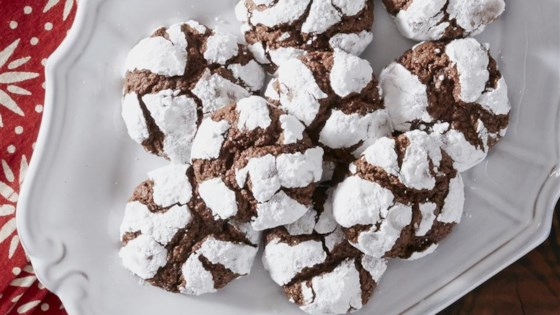 Photo of Chocolate Mint Crinkle Cookies from Reynolds® Parchment Paper by Reynolds Kitchens®