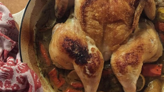 Photo of Braise-Roasted Chicken with Lemon and Carrots by hello angie