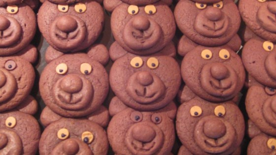 Photo of Chocolate Teddy Bear Cookies by Debra Battista
