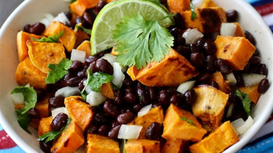 Photo of Vegan Black Bean and Sweet Potato Salad by chefcs