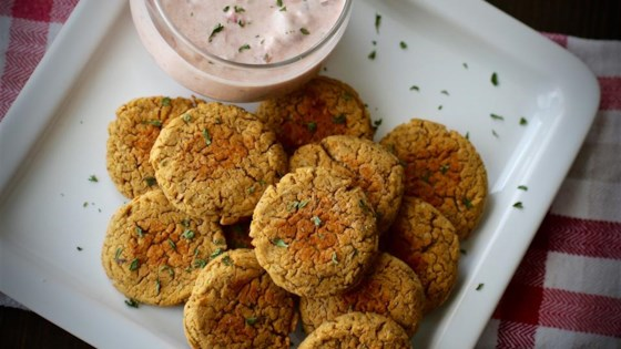 Photo of Simple Falafel (Chickpea Burgers) by Kay E.