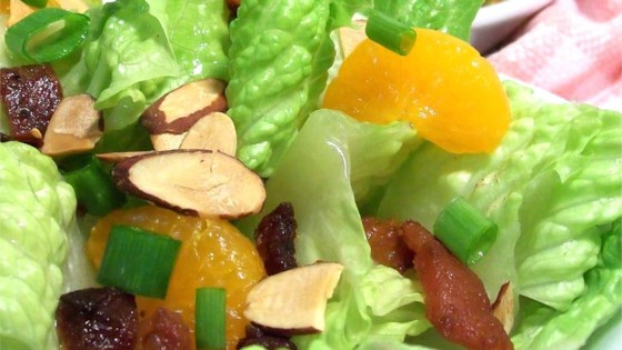 Photo of Almond Mandarin Salad by BARBARA BREITSAMETER